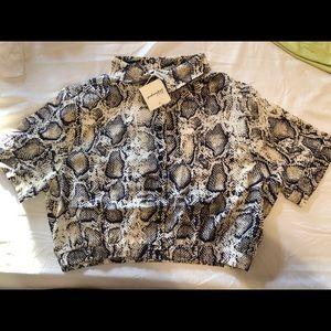 Snake Style Crop Shirt